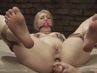 Blonde Punished In Lezdom Dungeon