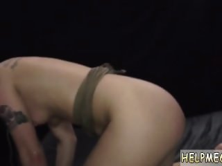 Eager slave and outside handjob first time