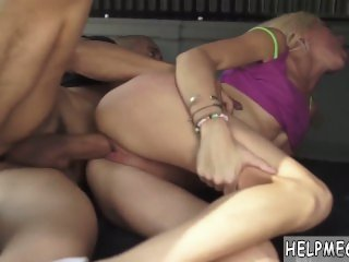 Teen wants to join first time Halle Von is