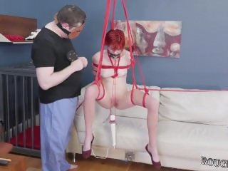 First time domination They drape her from