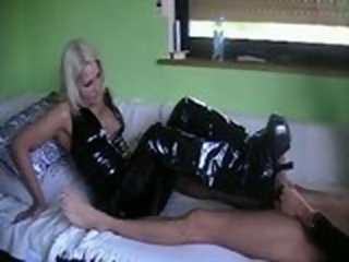 latex footjob