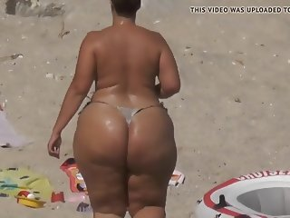 BBW Huge Ass on the Beach