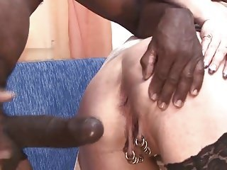 Pierced German MILF with lots of pussy piercings sex