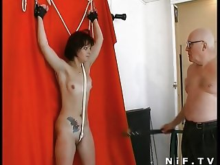 French slut sodomized in a BDSM game