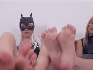 Italian Footjob on webcam