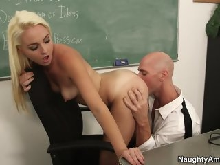 Incredible small titted Ashley Stone is sucking my dick