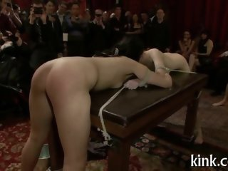 even the crowd goes wild as the bdsm gets crazy