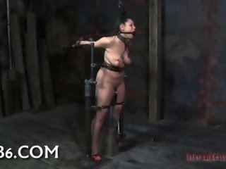 Babe caged for play bdsm 11