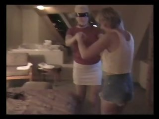 Mature lesbian wives in a hotel room