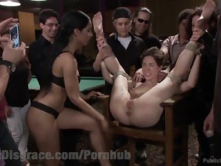 Lying Slut Gets Disgraced In Pool Hall