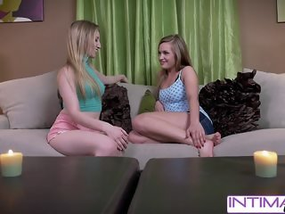 Intimate Lesbians - Riley and April cum extremely hard for you